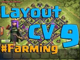 layout vila nivel 9 clash of clans clahs of clans ótimo layout de farm para centro de vila nível 9