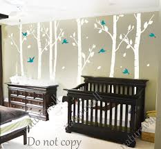 White Tree Wall Decal Nursery White Birch Tree Decals Nursery Decals Wall By Naturewall