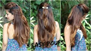 easy indian hairstyles for school the perfect pouf in 1 minute for school college work no teasing