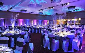 a sparkling winter theme to the decor of a recent gala event at