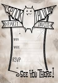 Free Printable Halloween Party Invitations Template Resume Builder