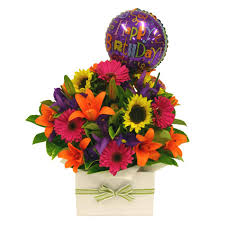 40th birthday delivery birthday flower arrangements bright large boxed arrangement with