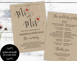 Diy Wedding Programs Templates Printable Wedding Program Template Diy Wedding Program