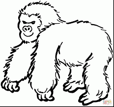 outstanding gorilla coloring pages to print with gorilla coloring