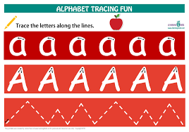 alphabet letters tracing mats standard print learning 4 kids