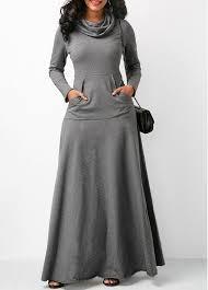 grey maxi dress sleeve cowl neck grey maxi dress rotita usd 31 10