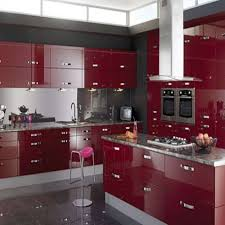 red lacquer kitchen cabinets home