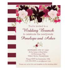 post wedding brunch invitations wedding brunch invitations announcements zazzle