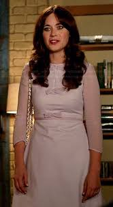 zooey deschanel new girl fashion wwzdw what would zooey deschanel s lavender bow dress on new girl wwzdw what would