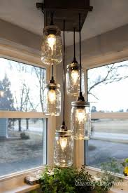 Country Kitchen Lights by Best 25 Mason Jar Light Fixture Ideas On Pinterest Jar Lights
