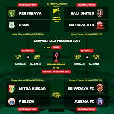 Jadwal Piala Presiden 2018 Format Babak Perempat Hingga Piala Presiden 2018