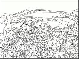 free printable coloring pages for adults landscapes incredible fall landscape coloring page with fall coloring pages in