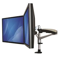 Dual Monitor Mount With Articulating Arms Display Mounting