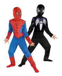 the amazing spider man reversible red to black child costume
