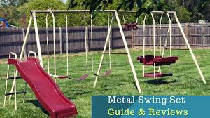 sportspower live oak metal swing and slide set review