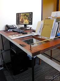 Diy Stand Up Desk Ikea by 37 Diy Standing Desks Built With Pipe And Kee Klamp Simplified