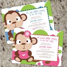 baby shower monkey monkey themed baby shower invitations theruntime