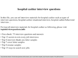 hospital cashier interview questions