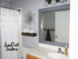 bathroom mirror ideas on wall decorating framed bathroom mirrors diy e280a2 ideas also