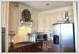 How To Distress White Kitchen Cabinets Creating A French Country Kitchen Cabinet Finish Using Chalk Paint