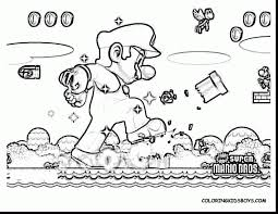 outstanding super mario coloring pages with super smash bros