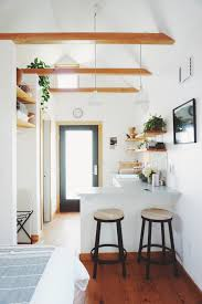 exposed beams in the portland tiny house tiny house pinterest