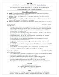 exle resume for retail sle resume retail retail manager sle resume retail manager