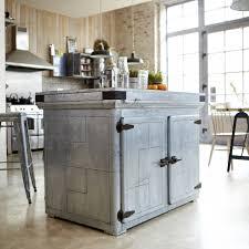 toby kitchen island in zinc kitchen island sale at tikamoon