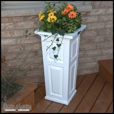 vinyl tall planters for patios u0026 decks hooks u0026 lattice