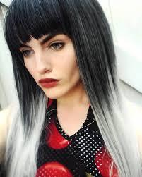 silver ombre lush wigs new style 2015 black grey silver