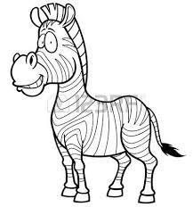 vector illustration cartoon zebra pixel style royalty free