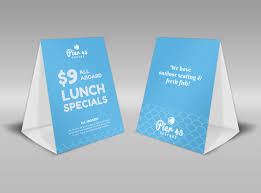 Table Tents Template Pier 45 Lunch Specials Table Tent Template Mycreativeshop