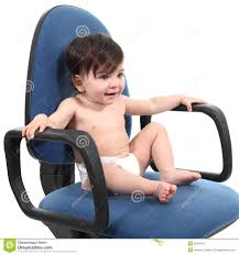 Infant Armchair Baby Sitting On An Office Chair Stock Photo Image 30248110