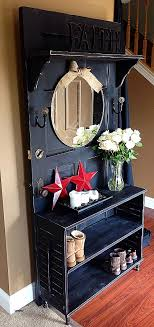 entryway table and bench entryway table and bench awesome antique door made into hall tree
