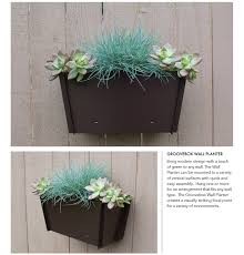 Wall Mounted Planters by Steel Planters Groovebox Outdoor Living