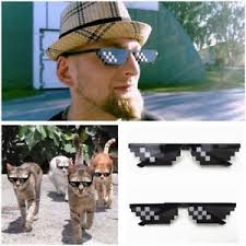 Pixel Sunglasses Meme - chic meme deal with it thug life attitude stylish glasses 8 bit