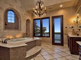 luxurious bathroom designs brown marble floor built in storage