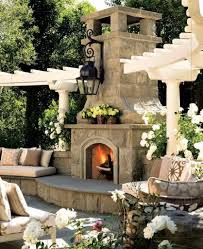 backyard fireplace designs outdoor gas fireplaces landscaping