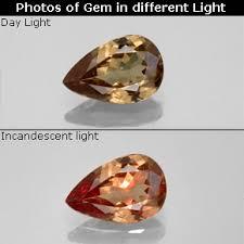 1 4 carat golden brown to orange color change garnet gem from