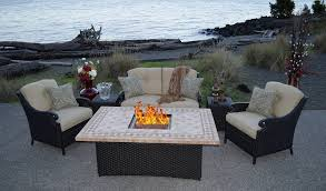 garden furniture fire pit set brilliant gas table patio sets inside