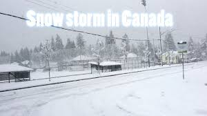 Worst Snowstorm In History by Snow Storm In Canada Youtube