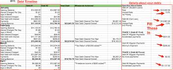 Spreadsheet For Paying Debt My Debt Repayment Spreadsheet My Alternate