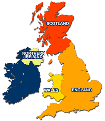 map uk ireland scotland how many countries are there within quora