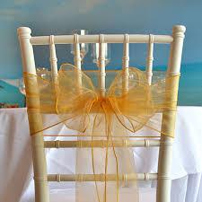 organza chair sashes organza chair sash gold faraway event rentals koh samui thailand