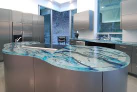 decorating ideas for kitchen countertops furniture wonderful blue recycled glass countertops for kitchen
