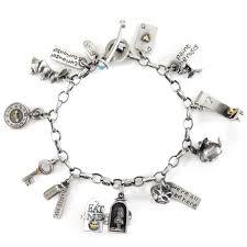 white charm bracelet images Alice in wonderland 39 charm bracelet nick hubbard jewellery jpg