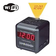 Clock That Shines Time On Ceiling by Time Projection Alarm Clock Wifi Spy Convert Hidden Ip Camera