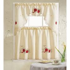 Apple Curtains For Kitchen by Apple Kitchen Curtains Valances U0026 Kitchen Curtains Wayfair