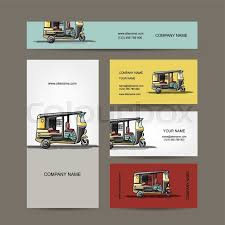 Car Name Card Design Indian Taxi Car Business Cards For Your Design Vector