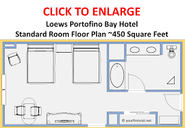 loews portofino bay hotel standard room floor plan playuna